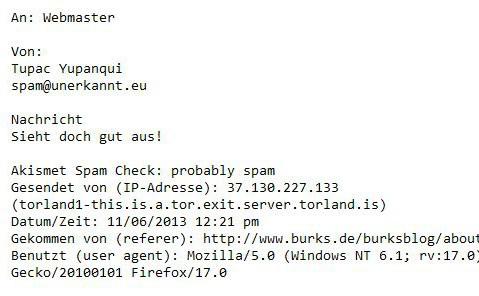 anonyme e-mail