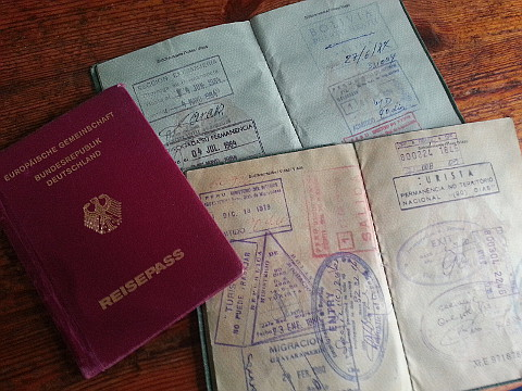 alte Reisepässe