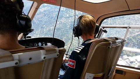 Hubschrauberflug