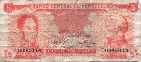 bolivares venezuela