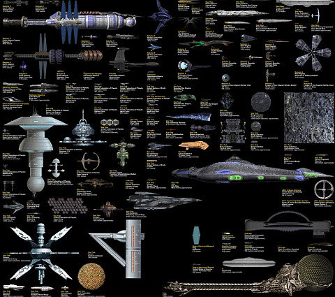 Science Fiction starships