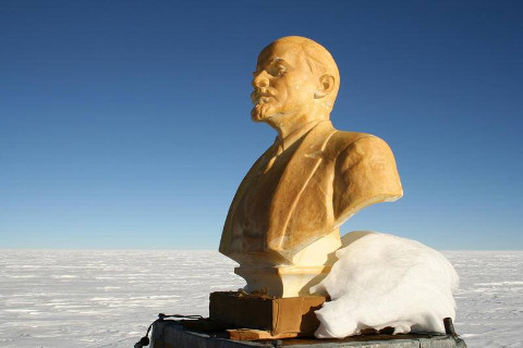 The Lenin statue in Antarctica