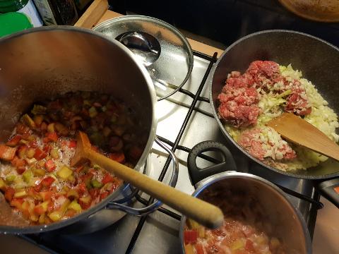 rharbarber und Chili