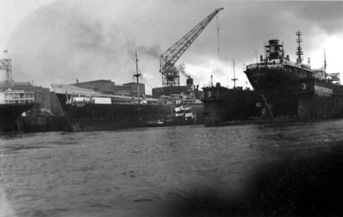 Hafen Hamburg 1958