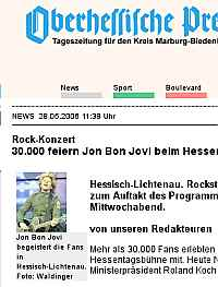 Screenshot Oberhessische Presse
