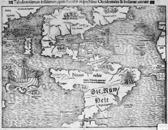 Karte der Neuen Welt