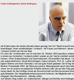 Scxreenshot DJV Berlin