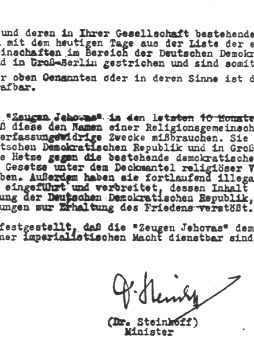 Verbot in der DDR