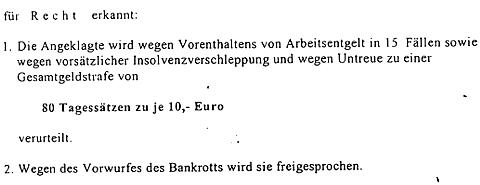 Urteil AG Postdam gegen Jutta Rabe